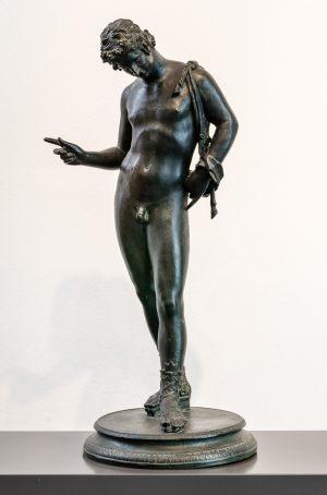 Bronze Narziss 19. Jahrhundert 61 cm