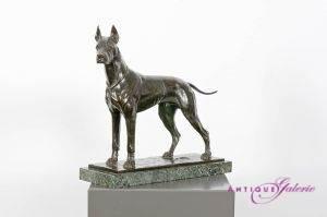 Fritz Diller 1875-1945 Deutsche Doge Bronze 40 x 44 x 14 cm